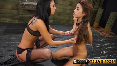 Marina Angel Endures Lesbian Domination Threesome with Esmi Lee and Abella Danger BDSM