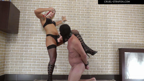 Hardcore Choking Deepthroat Femdom and Strapon