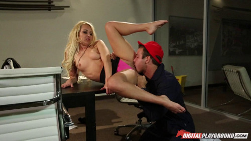 Aaliyah Love Cleanup In The Boardroom Blondes