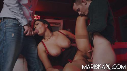 Mariska - Get's Both Holes Filled Threesome