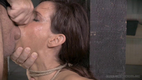 RTB - Hottie chained down with epic coarse deepthroat