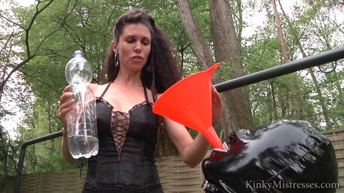water punishment Femdom and Strapon