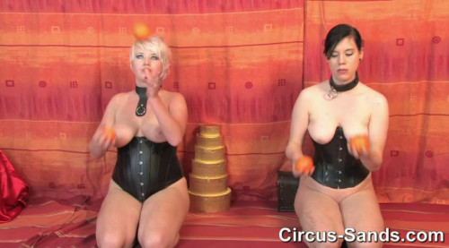 Juggling petgirls Jane and Kasha Part2 BDSM