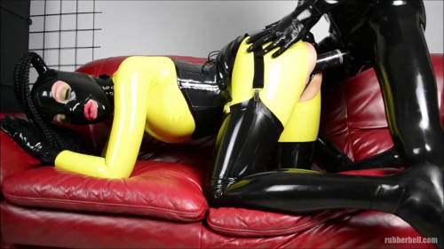 Bondage, domination and torment for lewd doxy in latex