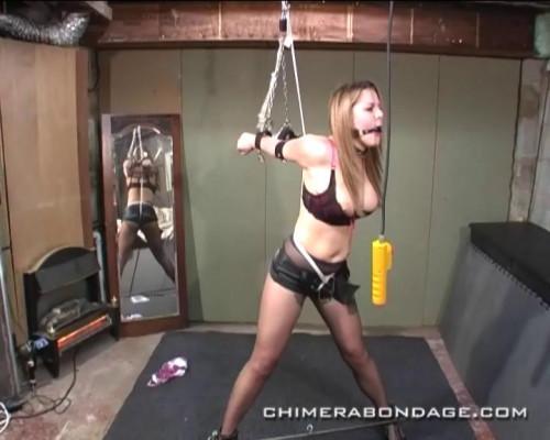 Self gagged and bondage BDSM