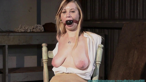 Lexi Kneels and Begs For Tit Torture, and Gets It - Part 1