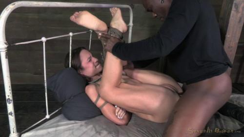 SexuallyBroken Diminutive Amber deepthroats PENIS inches of dark penis