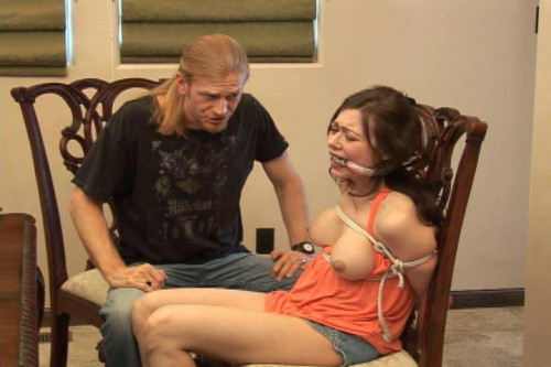 Restraint bondage in chair