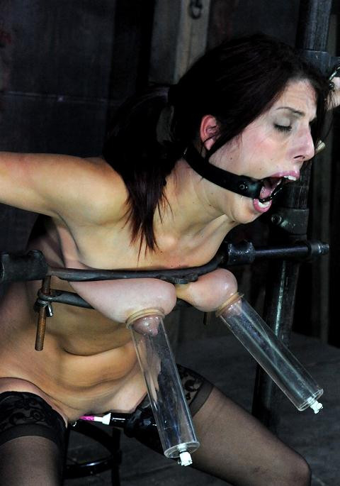 Excellent punishment for hot brunette