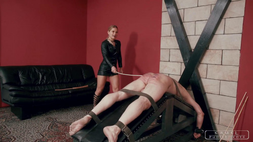 Cruel Punishments - Intense Caning Femdom and Strapon