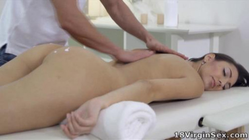 Tight pussy Nika has her masseuse take her virginity. She loves his hot cock inside her. Massage