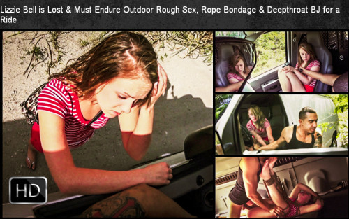 SexualDisgrace - Mar 06, 2015 - Lizzie Bell is Lost & Must Endure Outdoor Rough Sex