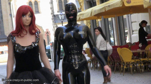 Skylar tries to blame her personality BDSM Latex