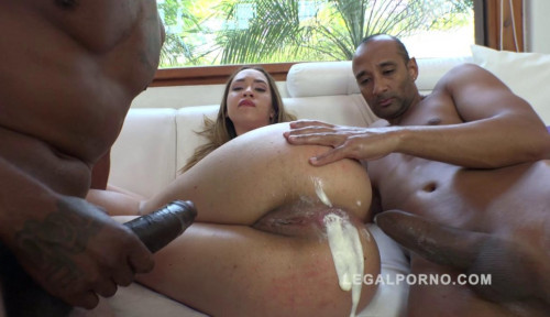 Sexy Babe Briana Bounce Loves Interracial Double Anal With Cream Interracial