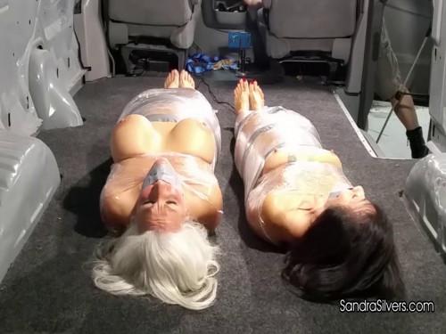 Sandra Silvers & Gigi - Mummified Milf in the Back BDSM