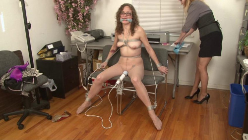Tied and Vibrated and Abandoned - Lauren Kiley BDSM