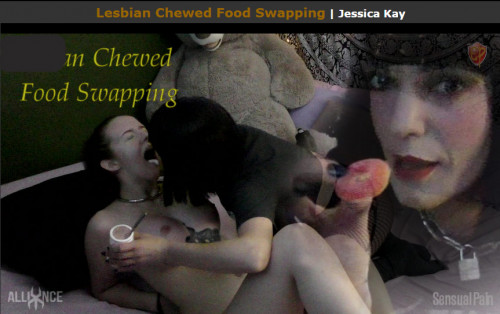 Sensual Pain - Lesbian Chewed Food Swapping