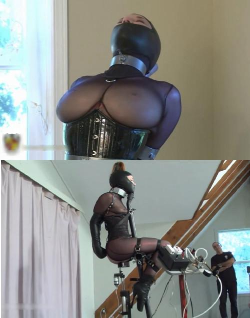 Tight bondage, torture for hot slavegirl and machines torture
