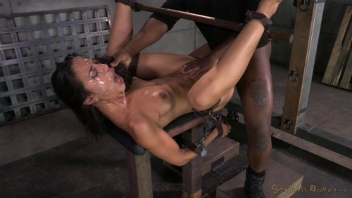Lean Lyla Storm completely destroyed by cock! Epic brutal deepthroat, massive orgasms (2014)