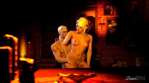 Ciri Riding Geralt On Chair Loop - HD 720p