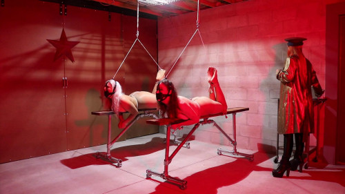 Sandra & Lauren Toe Tied & Tickled animal training the hands of Col. Lisa!