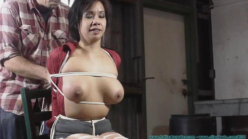 Kimmy Lee Hogtied in the New Studio 2 part - Extreme, Bondage, Caning BDSM