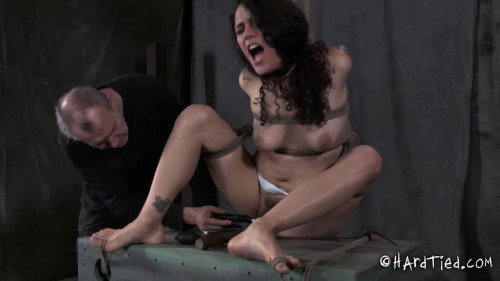 Bondage, wrist and ankle bondage, spanking and torment for exposed bitch part 2