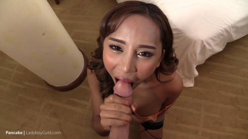 LadyboyGold Pancake - Immaculate Bronze Babe Pounded Raw Transsexual
