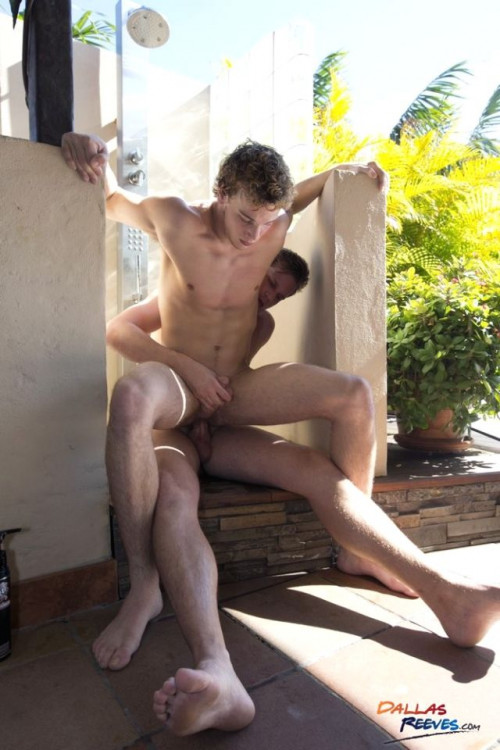 DallasReeves Dallas Reeves Barebacks Donny Forza at the Shower