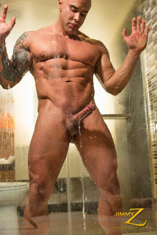 JimmyZ - Big Roger - Steamy Shower Gay Solo