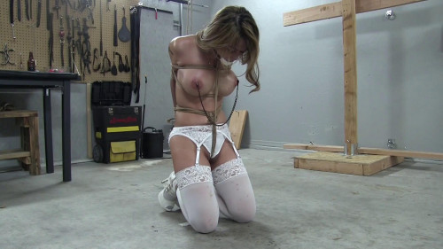 Kneeling Predicament in Stockings, Garters and Heels - Part 2 - Level 8 Uncomfortable