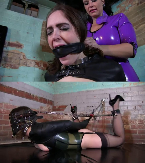 Super bondage, suspension, torture and hogtie for young girl BDSM Latex