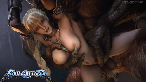 Sophitia vs The Minotaur 3D