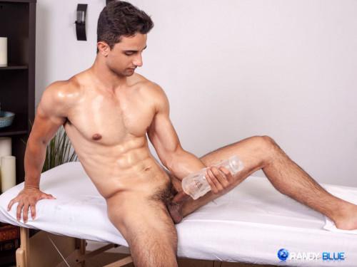 College Hunk Ezra Finn sticks his dick in a fleshjack Gay Solo