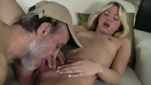Pretty blonde babe fucked viciously Old and Young