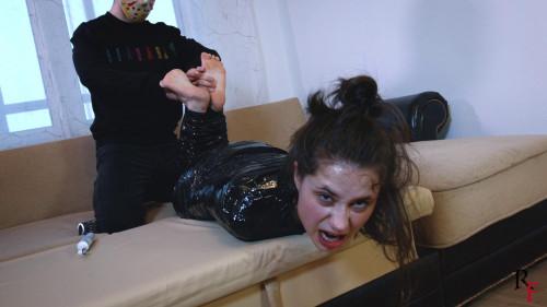 Mummified Tonya BDSM Latex
