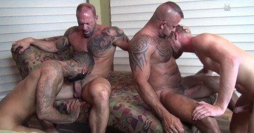 Hung Breeders Enjoy Tough Orgy