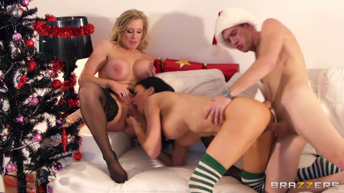 He Teaches The Santa Pounding Some Proper Pussy Threesome