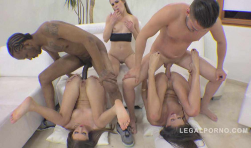 3 sluts in anal orgy with monster cocks