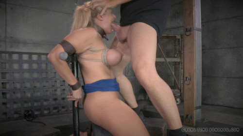 Angel Allwood orgasmblasted on sybian and does brutal inverted BDSM