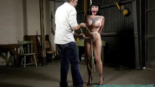 FutileStruggles - Crossed Wrist Chairtie for Luna BDSM