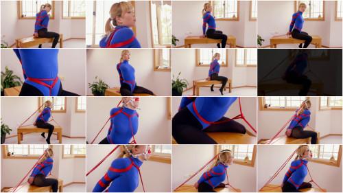 Blue Thong Bodysuit - Mina - Full HD 1080p BDSM