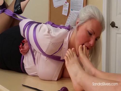 Hogtied MOTHER ID LIKE TO FUCK Secretary Made to servitude her LadyBos Feet!