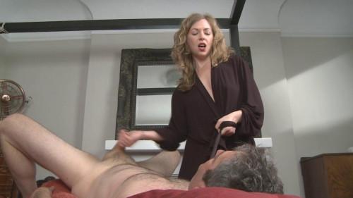 Mature jerking her lover dick Masturbation