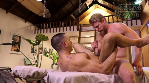 JustForFans - Massage and Breeding - Logan and Diego Gay Clips