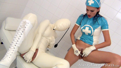 Kinky Rubber Clinic, Finger, Blow-Up Hood, Dildo Part Three