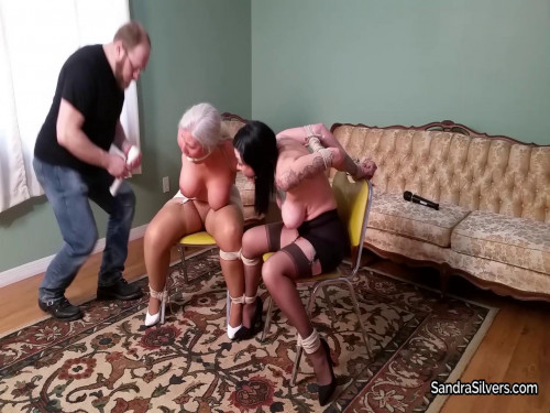 Sandra Silvers & Luna Dawn - Bondage Orgasm Ordeal for Submissive