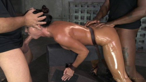 SexuallyBroken  Fit India Summer chained down and used intense