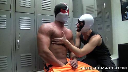 MuscleMatt - Locker Room Blow Job, Petes Nose