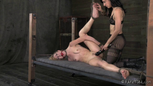 Maia Davis and Elise Graves Bound and Beaten BDSM
